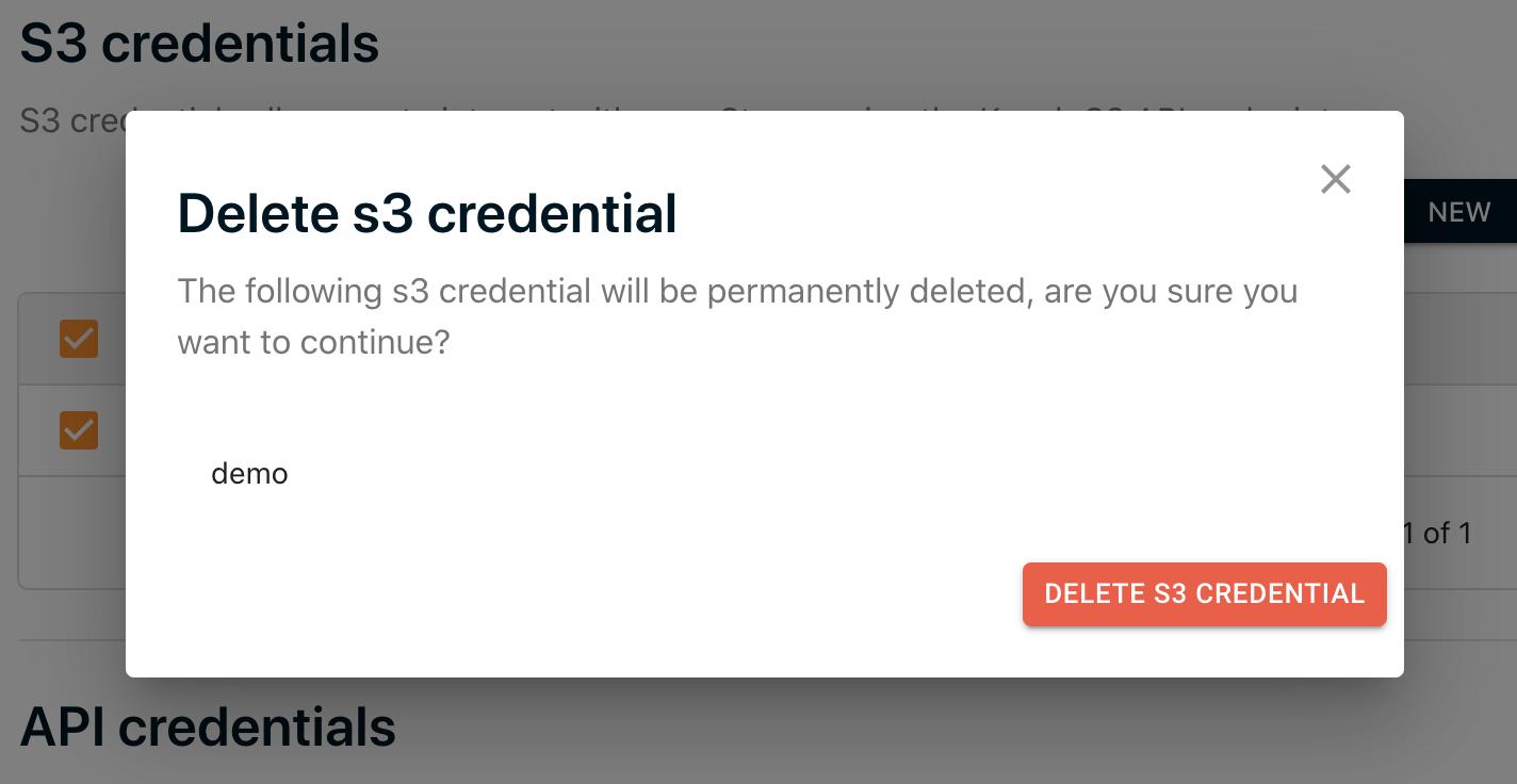 Confirm S3 Deletion