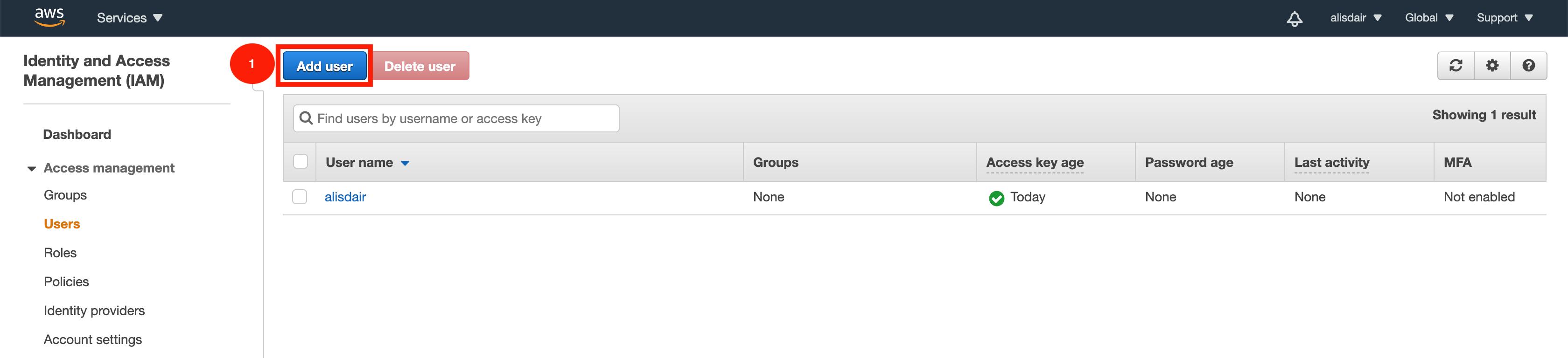AWS Add User